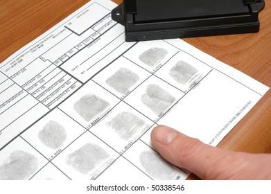 taking fingerprints  on ID card