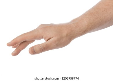Taking hand isolated on white background