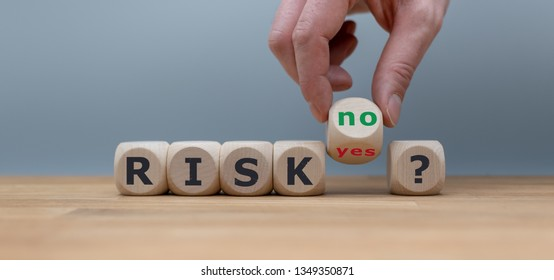 """Taking a risk? Hand turns a dice and changes the word """"yes"""" to """"no""""."""