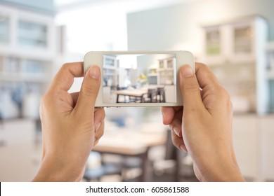 Taking photo with mobile smart phoneTaking photo with mobile smart phone