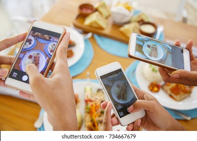 Taking a picture of lunch
