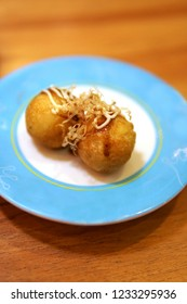 Takoyaki balls dumpling japanese food.asian street market takoyaki most popular delicious snack of japan