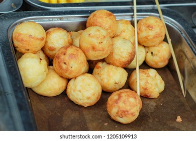 takoyaki or japanese octopus ball with brown color