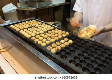 Takoyaki stand at Osaka, Japan