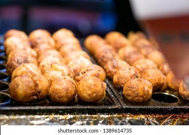 Takoyaki in Taiwanese Night Market