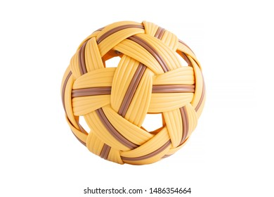 Takraw ball isolated on a white background
