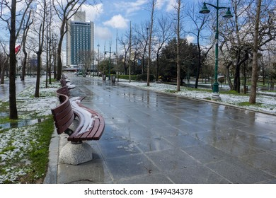 Taksim Gezi Park is a city park located in Taksim Square, Beyoglu District of Istanbul. Turkey Istanbul Beyoglu 24 March 2021