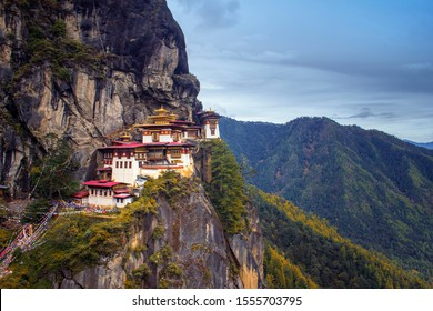 Taktsang Dzongkha also known as the Taktsang Palphug Monastery and the Tiger's Nest, is a Himalayan Buddhist sacred site located in cliffs of the upper Paro valley in Bhutan