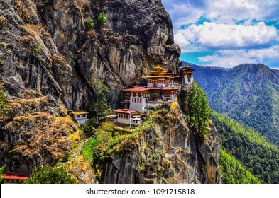 Taktsang Lhakhang (The Tiger's Nest Temple) is Bhutan's most iconic landmark and religious site.