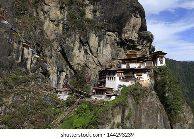 TakTsang Monastery also known as Tiger's Nest in Paro, Bhutan