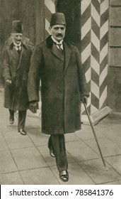 Talaat Pacha, one of the Ottoman dictatorial triumvirate during World War 1. When Turkish forces were defeated, he boarded a German submarine on Nov. 3, 1918, for exile in Berlin. He was assassinated