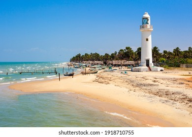 Talaimannar Lighthouse. Talaimannar is located on the northwestern coast of Mannar Island and about 18 miles from Dhanushkodi indian town.