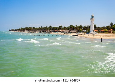 Talaimannar Lighthouse, Sri Lanka. Talaimannar is located on the northwestern coast of Mannar Island and about 18 miles from Dhanushkodi indian town.