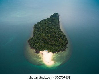 Talang Talang Island as seen from a birds eye view
