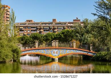 TALAVERA DE LA REINA, SPAIN - SEPTEMBER 28, 2019: Public park in Talavera called Alameda Park in Talavera de la Reina, Toledo, Spain