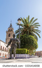 TALAVERA DE LA REINA, SPAIN - SEPTEMBER 28, 2019: Streets and buildings of the historic center of the city of Talavera, province of Toledo, Spain.