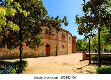 TALAVERA DE LA REINA, SPAIN - SEPTEMBER 28, 2019: Bullring in Talavera de la Reina, Toledo, Spain