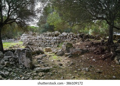 Talayotic settlement of ancient Binissafullet, in Menorca