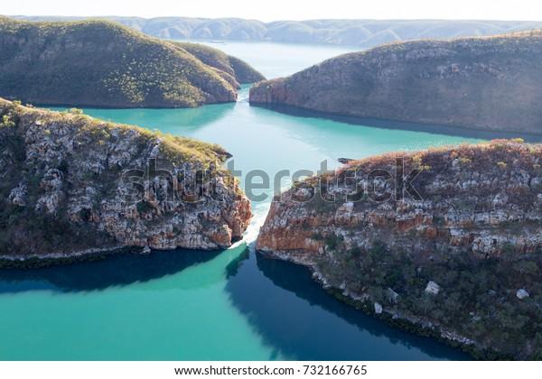 Talbot Bay the site of the Horizontal Falls, Western Australia.
