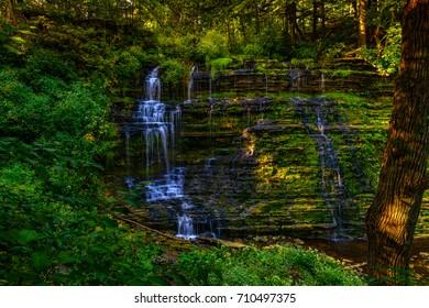 Talcott Falls  Water Falls in early morning light