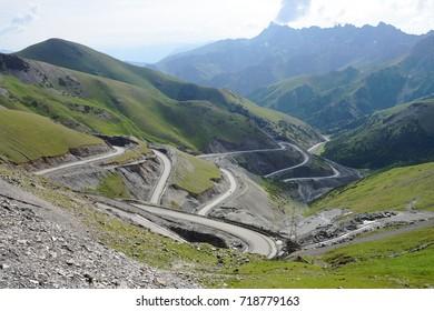 Taldyk Pass, 3615 m, M41 Pamir Highway, Kyrgyzstan