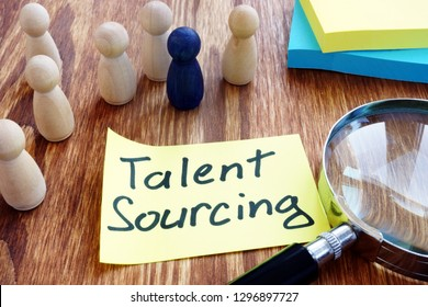 Talent Sourcing written a piece of paper.