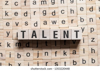 Talent word concept