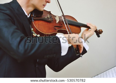 Talented Violinist Classical Music Player Solo Stock Photo (Edit Now