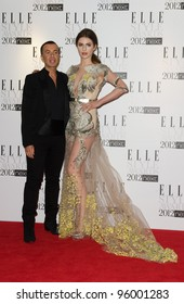 Tali Lennox and Julien Macdonald arriving for the Elle Style Awards 2012 at the Savoy Hotel, London. 13/02/2012 Picture by: Simon Burchell / Featureflash