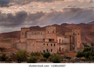 TALIOUINE, MOROCCO - OCTOBER 25, 2015: The Escale Rando guest house in Taliouine, Morocco.  The guest house is part of a fortified kasbah built in 1867.