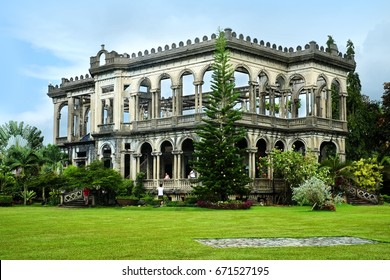 Talisay City, Philippines - Circa October 2015: The Ruins is situated in the borders of Negros Occidental's Talisay and Bacolod cities which is a popular site that was burned during World War II.