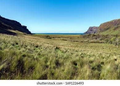 Talisker Bay on the Isle of Skye in Scotland