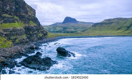 Talisker Bay in Scotland on the Isle of Skye