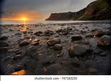 Talisker Bay at sunset, Skye