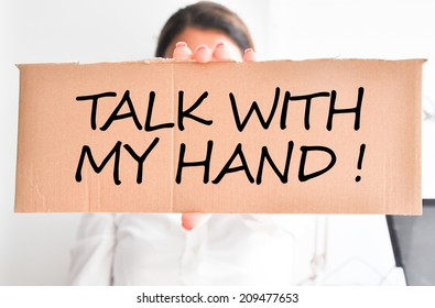 Talk with my hand