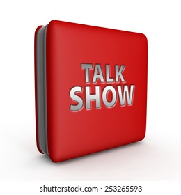Talk Show square icon on white background