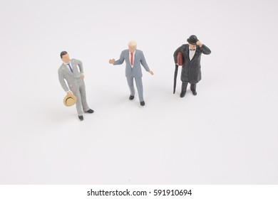 talking business people isolated on white background