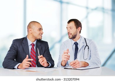 Talking To Doctor.