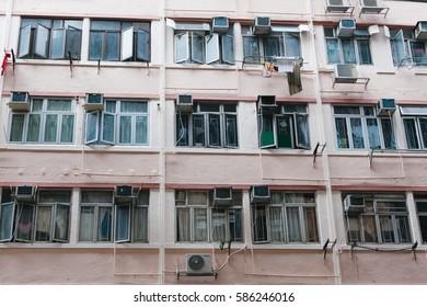 Tall apartment in slum