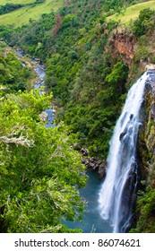 Tall beautiful waterfall in South Africa
