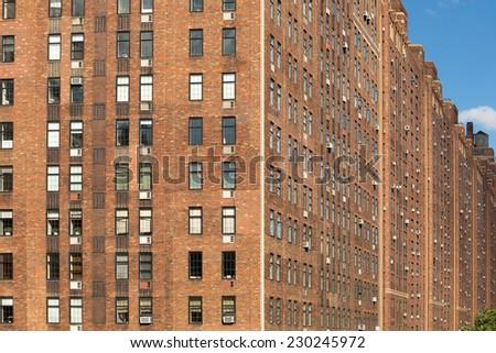 Captivating Tall Bricks Building Facade, Manhattan, NYC, USA