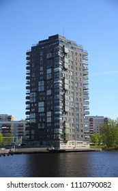 A tall building in Karlstad, Sweden