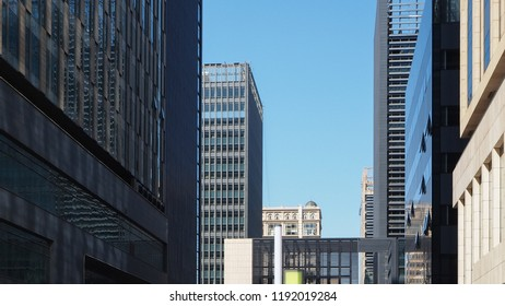 tall buildings in big cities, skyscrapers, business center in megalopolis