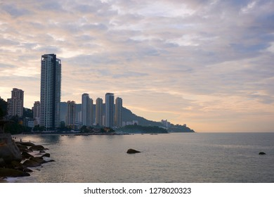 Tall buildings at the coastline