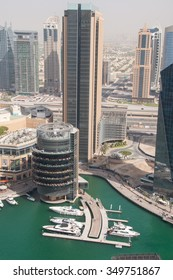 Tall buildings in Dubai, UAE.