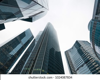 tall buildings in perspective