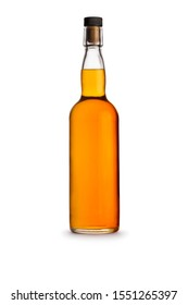 Tall Clear Glass Bottle - Whiskey / Rum / Tequila - Shadow