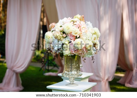 Tall Crystal Vase Beautiful Bouquet Daisies Stock Photo Edit Now