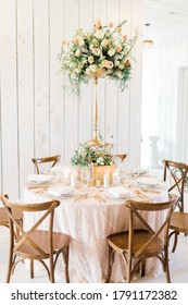 tall floral centerpiece wedding table