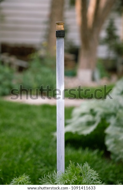 Tall Garden Sprinkler Head Stock Photo (Edit Now) 1091411633